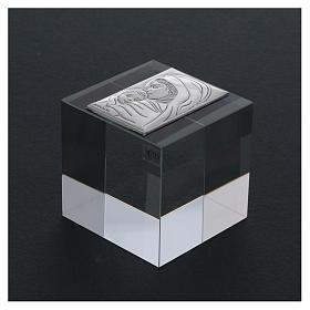 Bonbonnière religieuse cube presse-papiers Maternité 5x5x5 cm s3