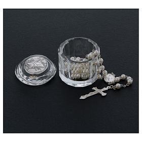 Bonbonnière boîte à chapelet cristal ovale pour Confirmation s3