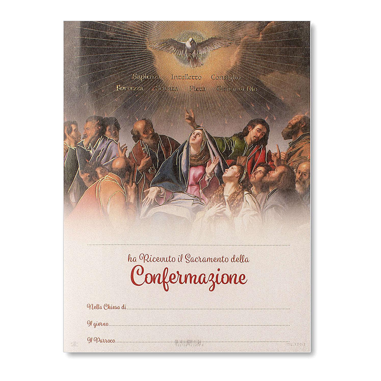 Pergamino Confirmación Pentecostés 24x18 cm 3