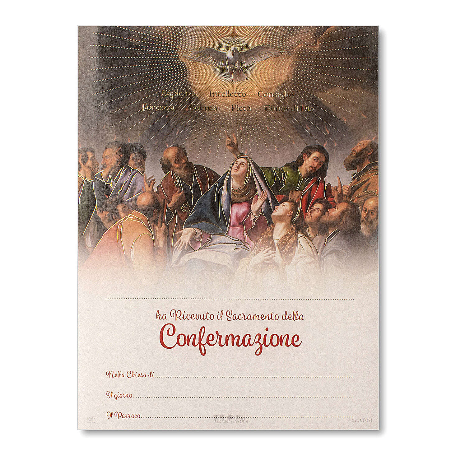 Confirmation parchment Pentecost 9x7 in 3