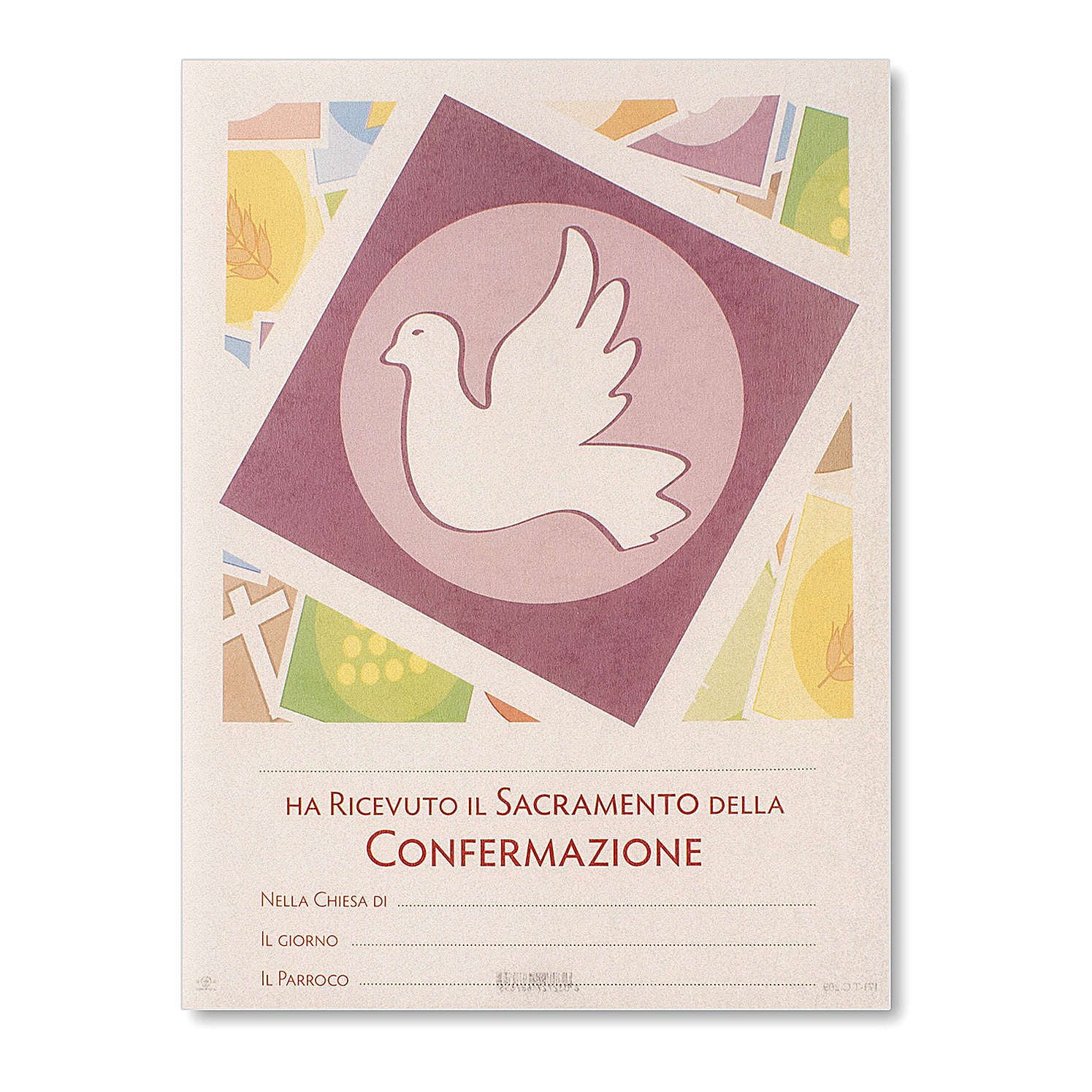 Confirmation Parchment Holy Spirit 24x18 cm 3