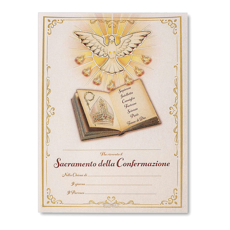 Pergamena Cresima S. Santo 24x18 cm 3