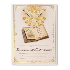 Pergamena Cresima S. Santo 24x18 cm s1