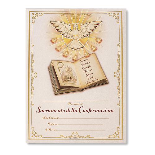 Pergamena Cresima S. Santo 24x18 cm 1