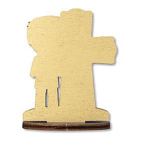 Bonbonnière souvenir Communion Croix Eucharistique Garçon 10x7 cm s2