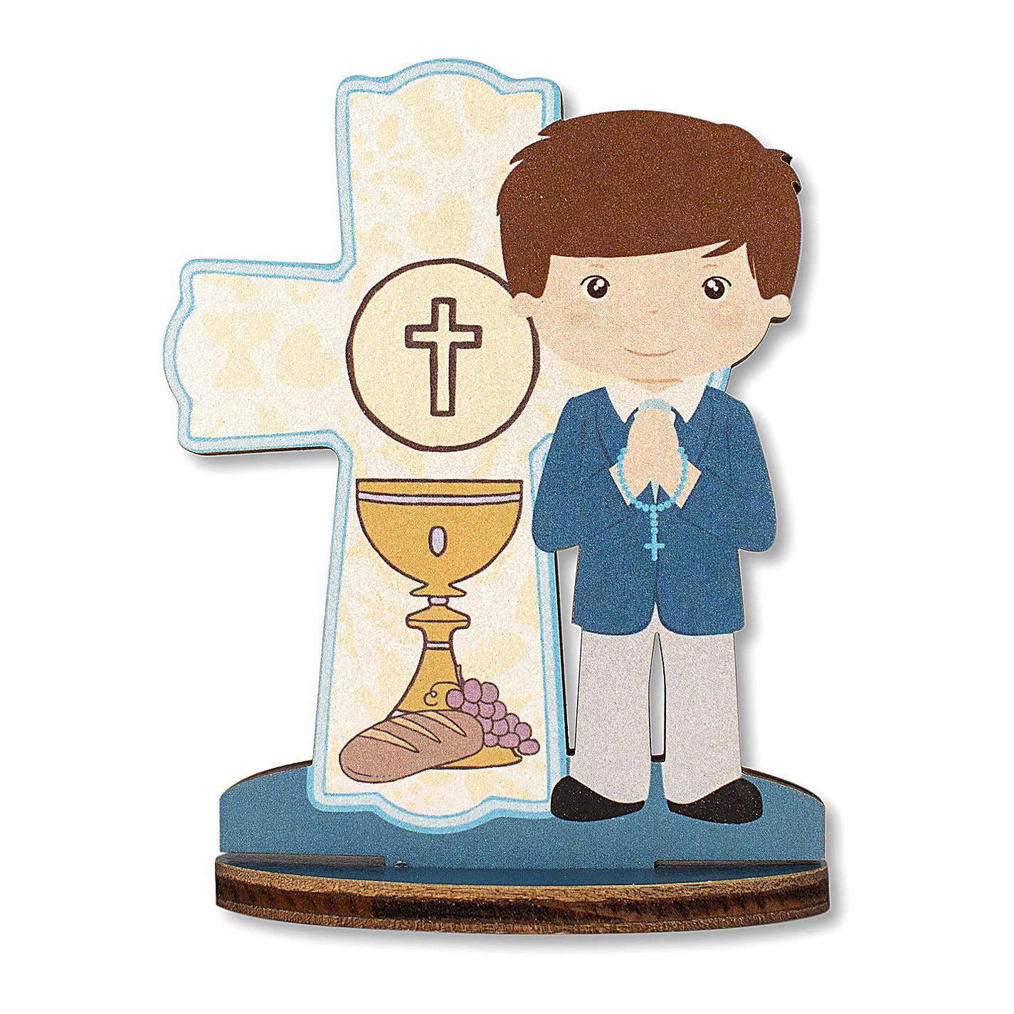 Bomboniera ricordo Comunione Croce Eucaristica Bimbo 10x7 cm 3
