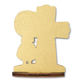 Bombonera recuerdo Comunión Cruz Eucaristía con Niña 10x7 cm s2