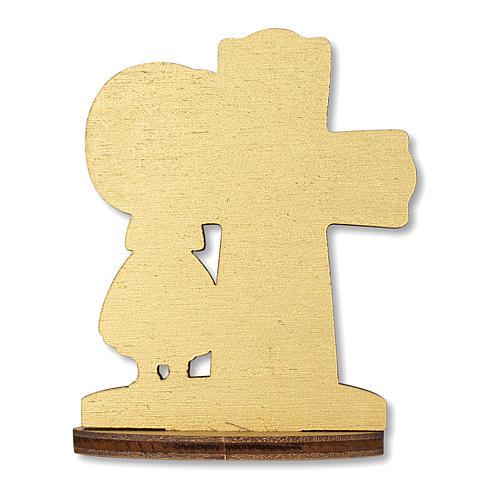 Bombonera recuerdo Comunión Cruz Eucaristía con Niña 10x7 cm 2