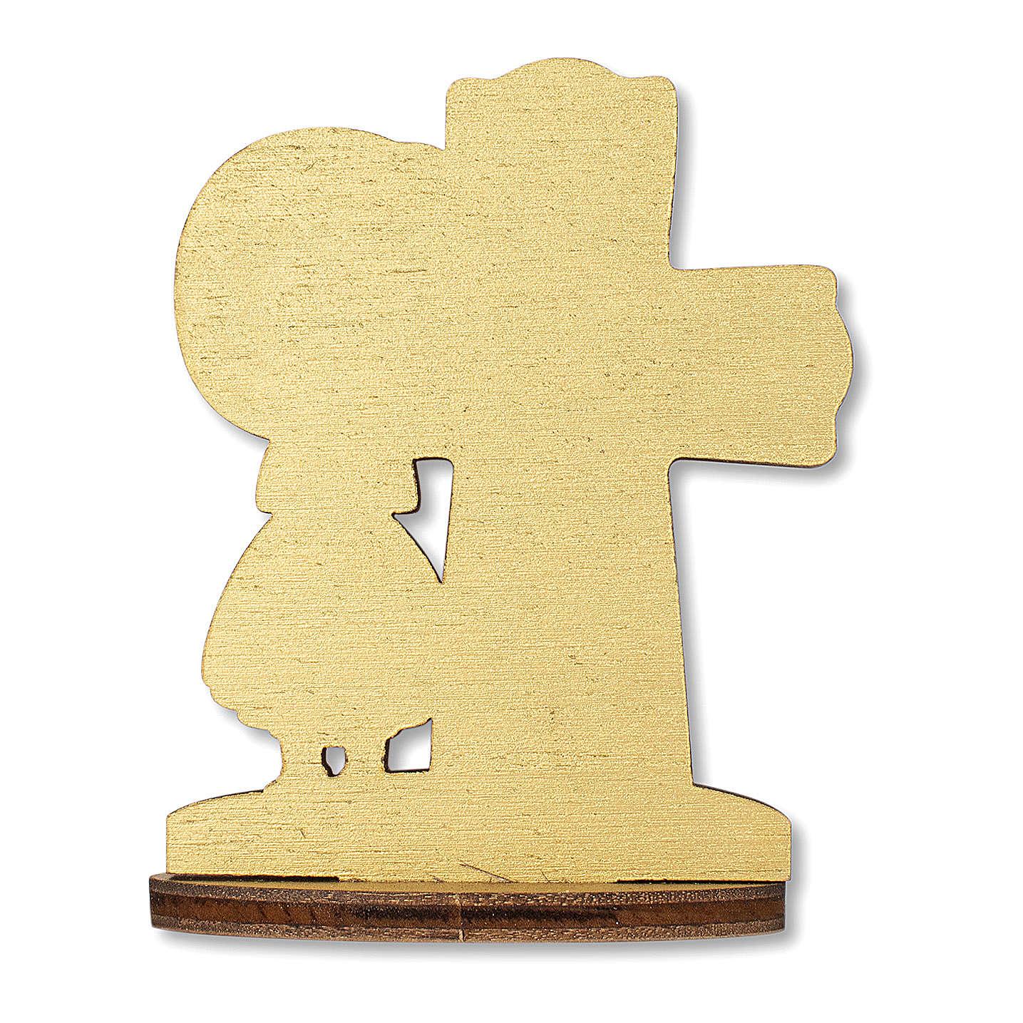 Bomboniera ricordo Comunione Croce Eucaristica con Bimba 10x7 cm 3