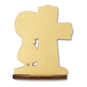 Bomboniera ricordo Comunione Croce Eucaristica con Bimba 10x7 cm s2