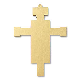 Croix souvenir Première Communion avec diplôme Symboles Eucharistiques 13,5x9,5 cm s4