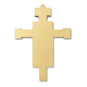 Croce ricordo Prima Comunione con diplomino Simboli Eucaristici 13,5x9,5 cm s4
