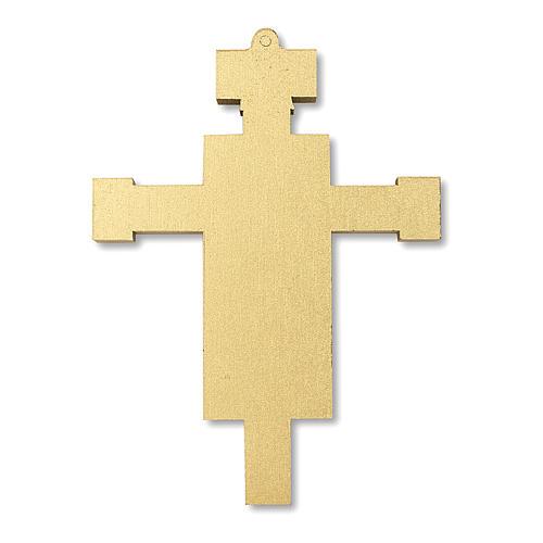 Cruz recuerdo Primera Comunión diploma Icono Jesús y San Juan 13,5x9,5 cm 4