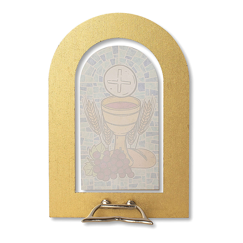 Bomboniera ricordo Prima Comunione Spirito Santo e Doni 14x9,5 cm 3