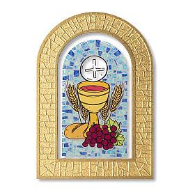Bomboniera ricordo Prima Comunione Spirito Santo e Doni 14x9,5 cm s1