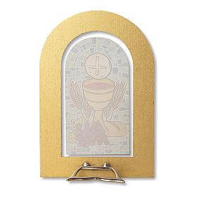 Bomboniera ricordo Prima Comunione Spirito Santo e Doni 14x9,5 cm s2