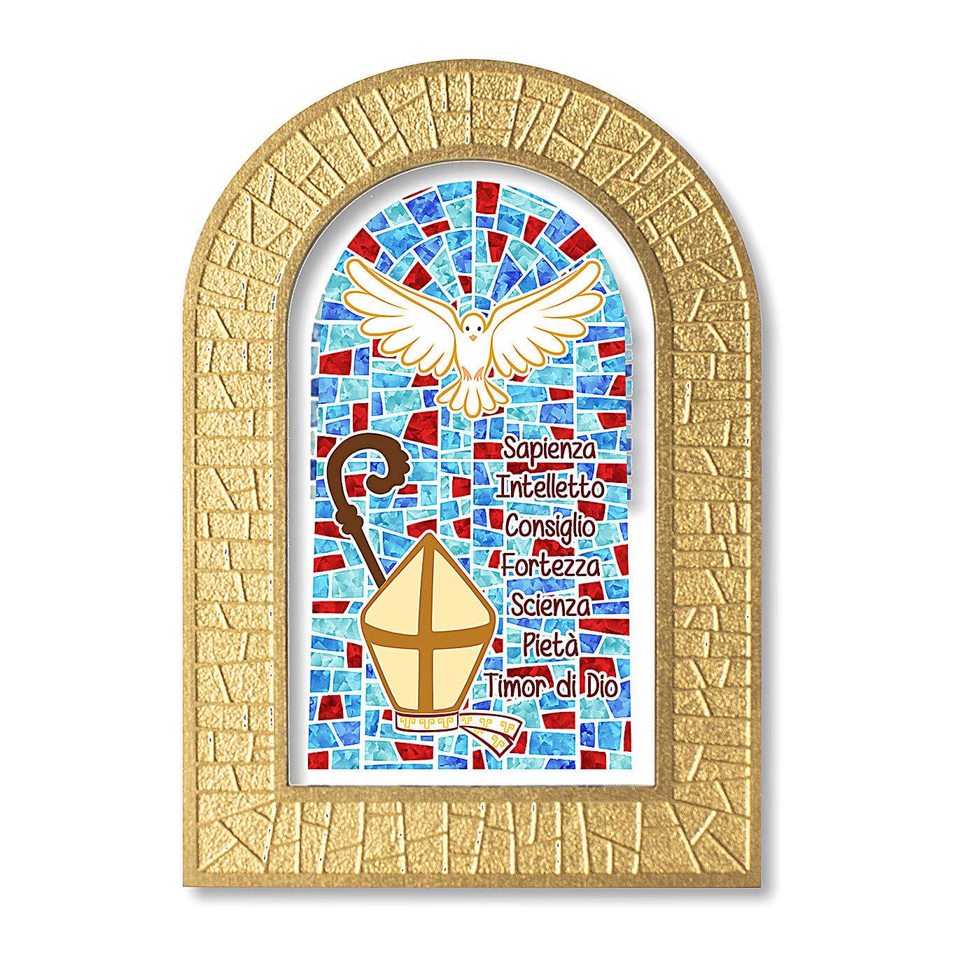 Bonbonnière souvenir Confirmation Symboles 14x8,5 cm 3