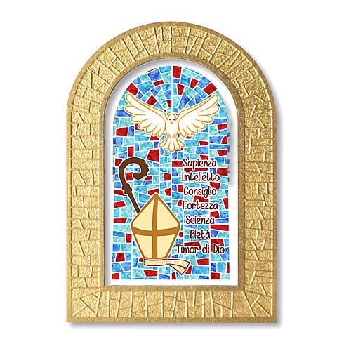 Bonbonnière souvenir Confirmation Symboles 14x8,5 cm 1