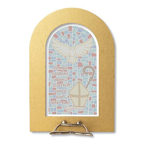 Bonbonnière souvenir Confirmation Symboles 14x8,5 cm 2
