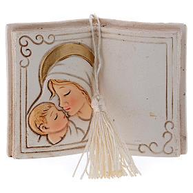 Bonbonnière Vierge à l'Enfant 7 cm livre s1