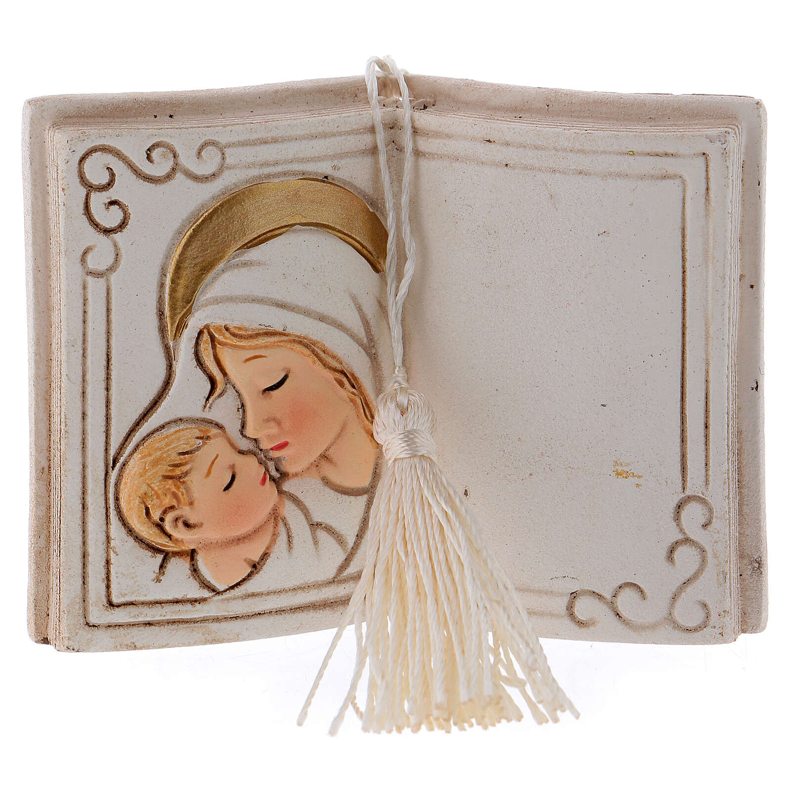 Book shaped ornament Virgin Mary with Child 3 in 3