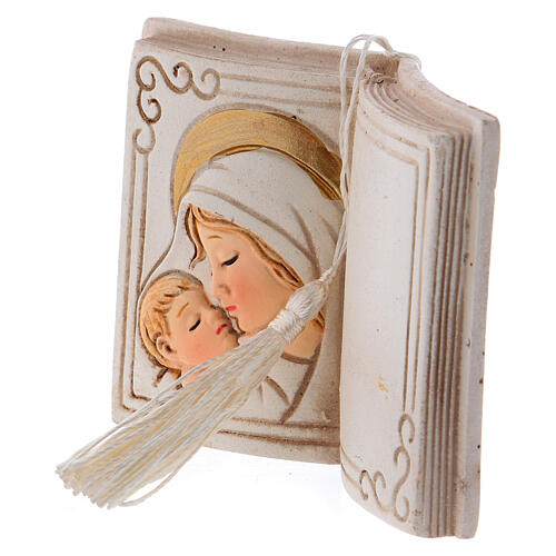 Book shaped ornament Virgin Mary with Child 3 in 2