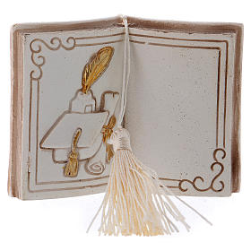 Bomboniera diploma e tocco 7 cm libro s1