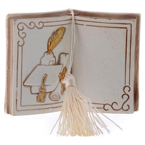 Bomboniera diploma e tocco 7 cm libro 1