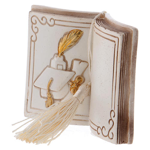 Bomboniera diploma e tocco 7 cm libro 2