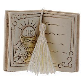 Pamiątka książka 7 cm kielich i winogron s1