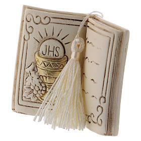 Pamiątka książka 7 cm kielich i winogron s2