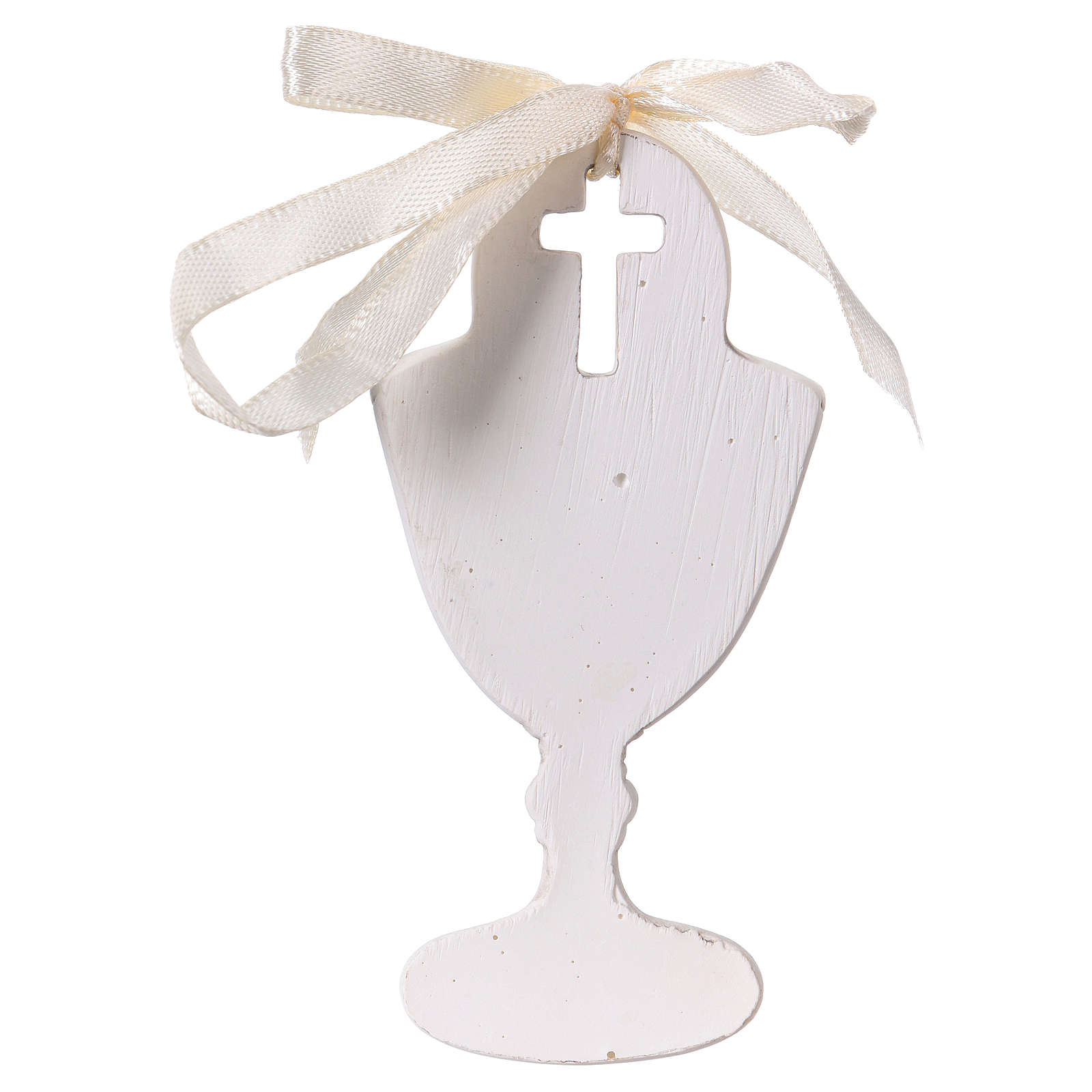 Goblet-shaped party favour with praying boy in resin 9 cm 3
