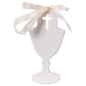 Goblet-shaped party favour with praying boy in resin 9 cm s2