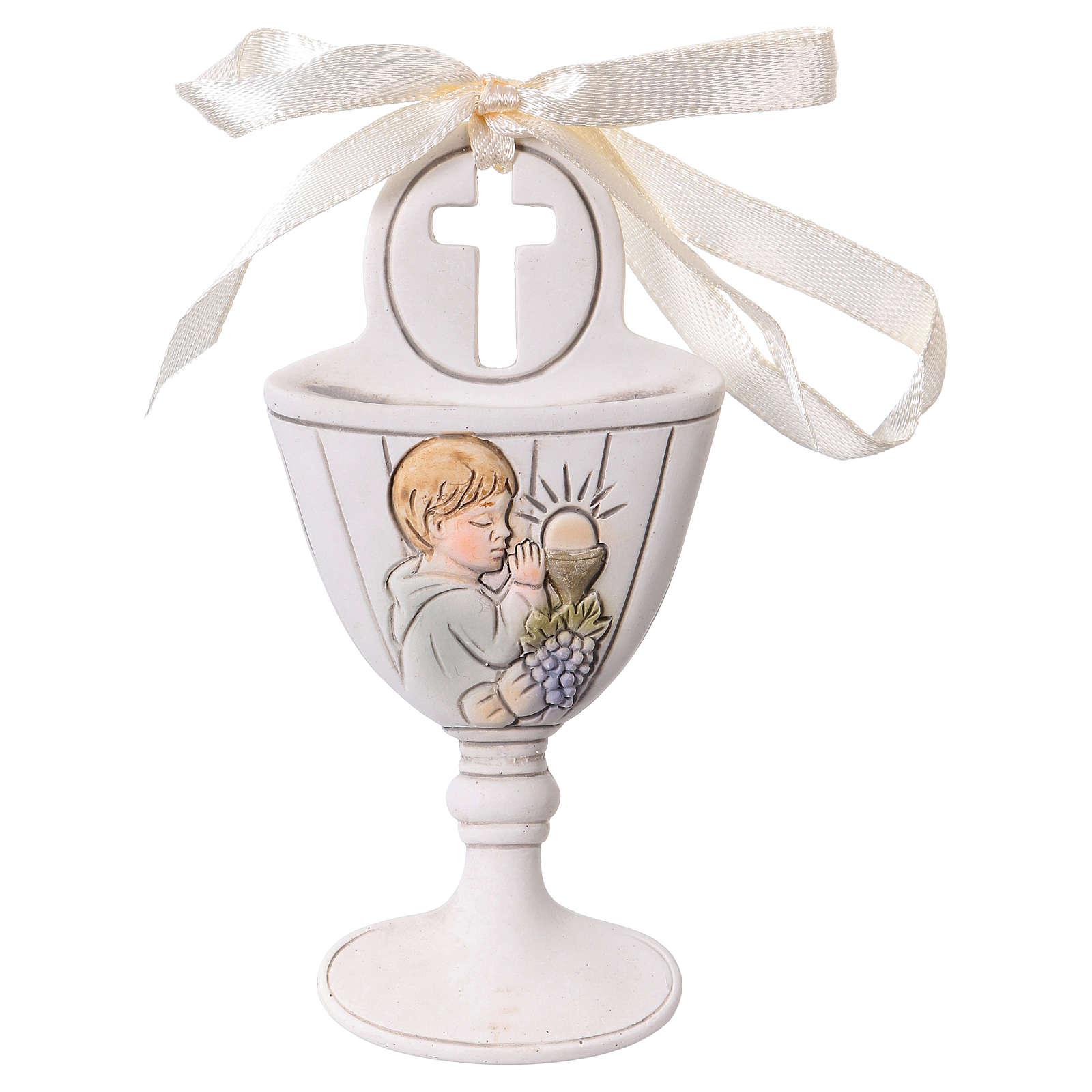 Lembrancinha 9 cm cálice menino em oração 3