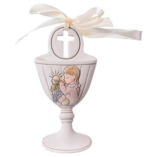 Calice bimba in preghiera bomboniera 9 cm 1