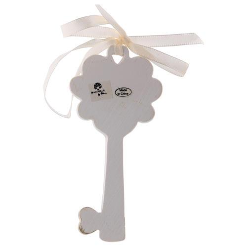 Bonbonnière clé Sainte Famille 11 cm résine 2