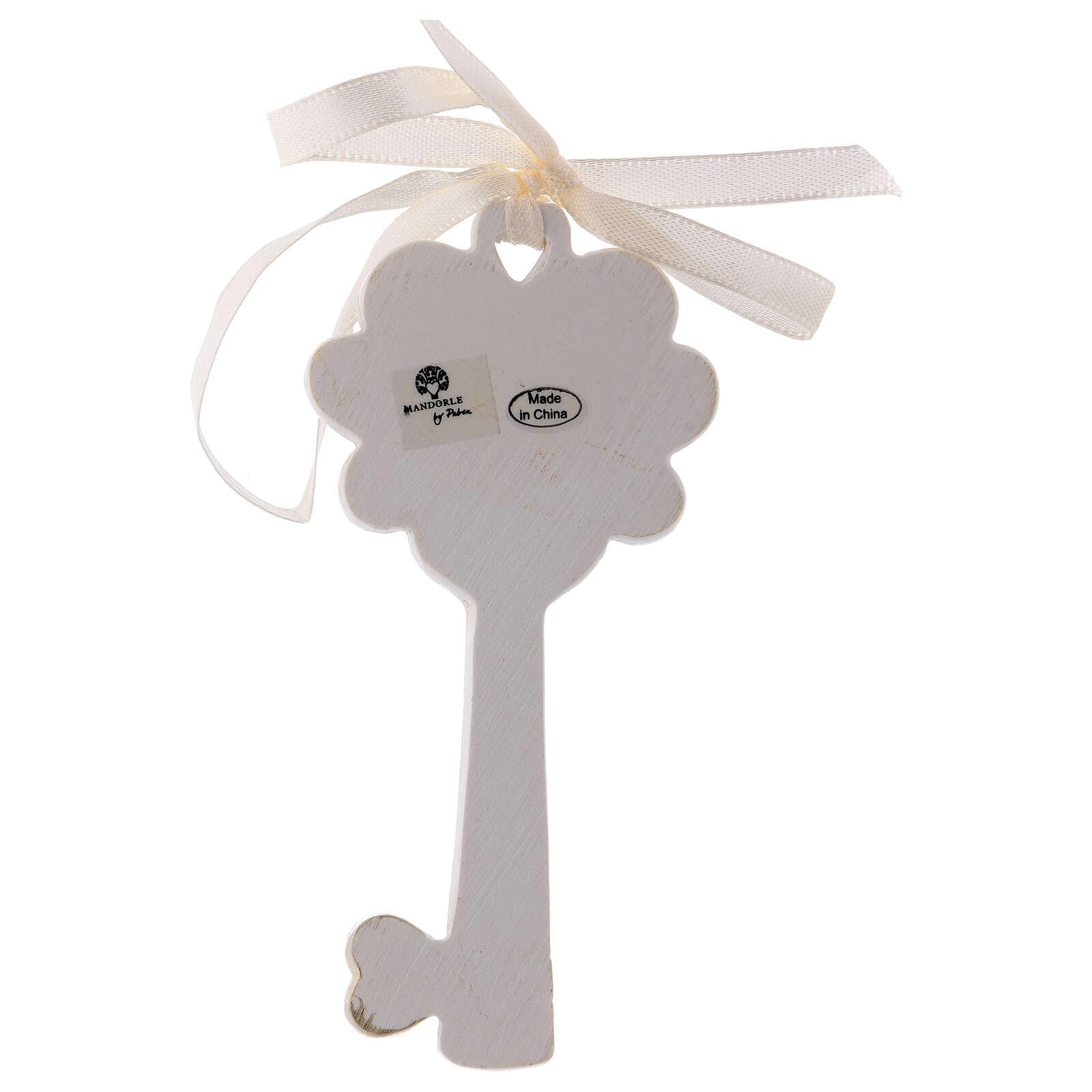 Key shaped favor Holy Family 4 in resin 3