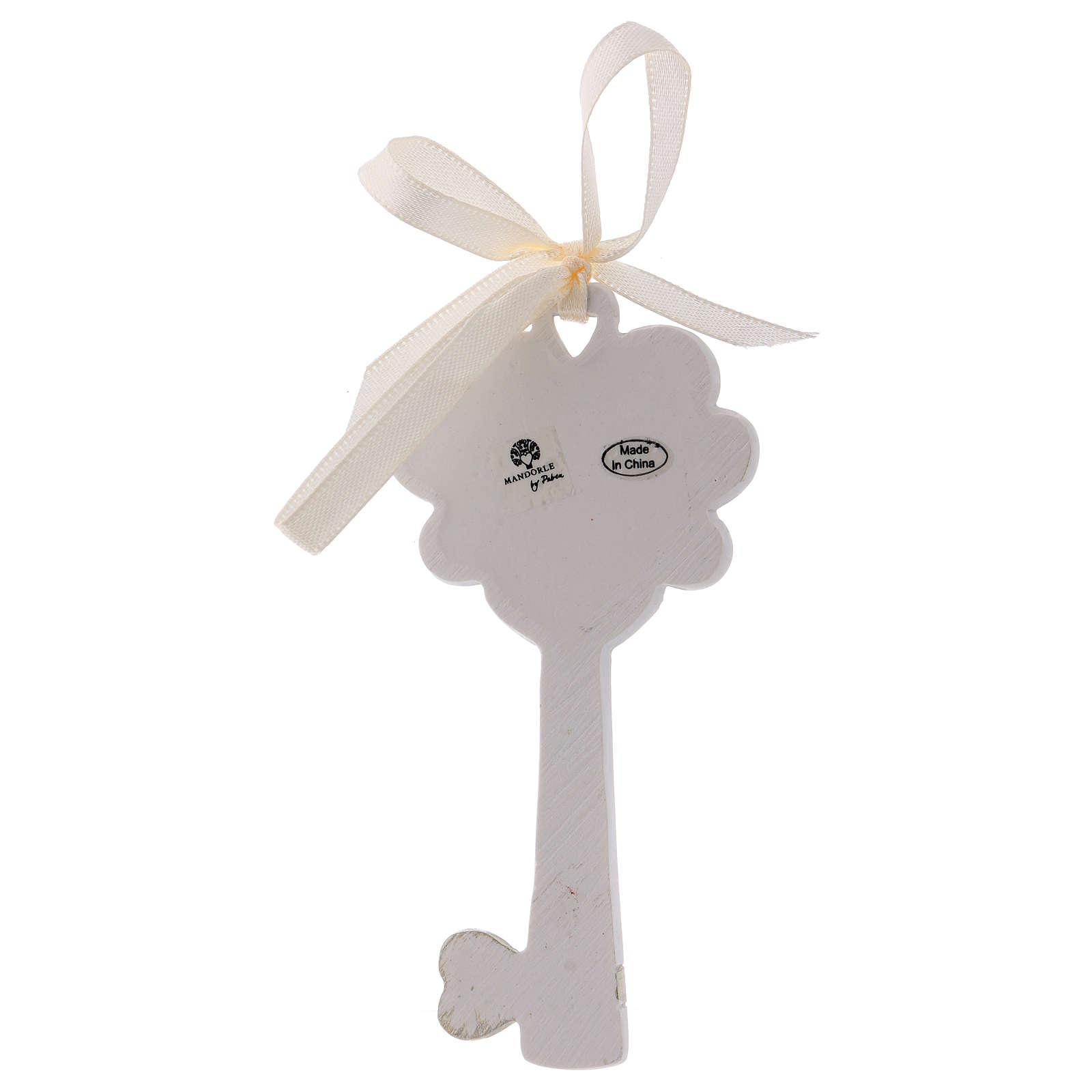 Bonbonnière clé résine Calice et épi 11 cm 3