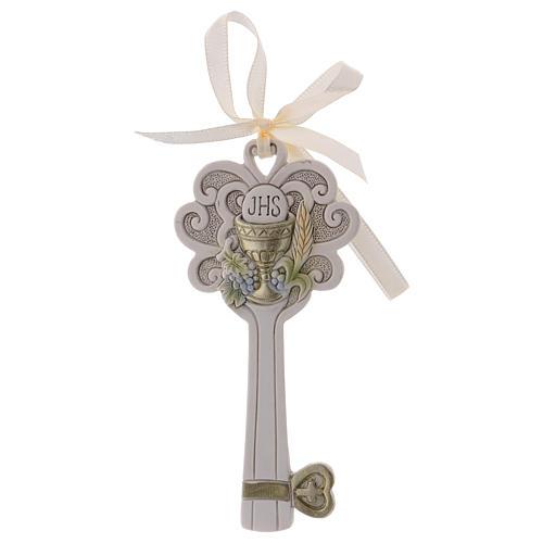 Bonbonnière clé résine Calice et épi 11 cm 1
