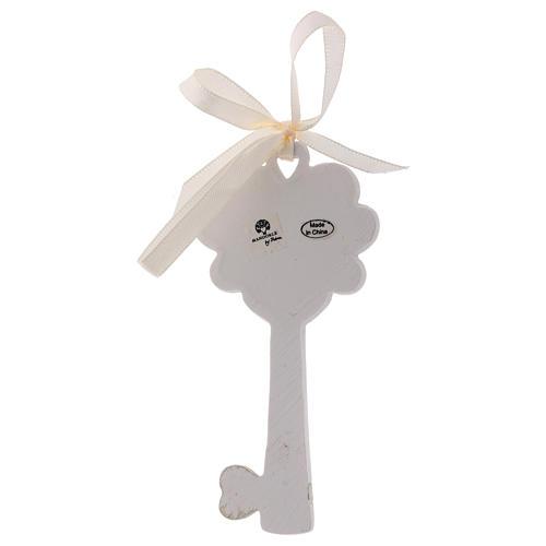 Bonbonnière clé résine Calice et épi 11 cm 2