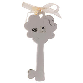 Key shaped favor mitre and crozier 4 in resin s2