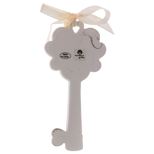Key shaped favor mitre and crozier 4 in resin 2