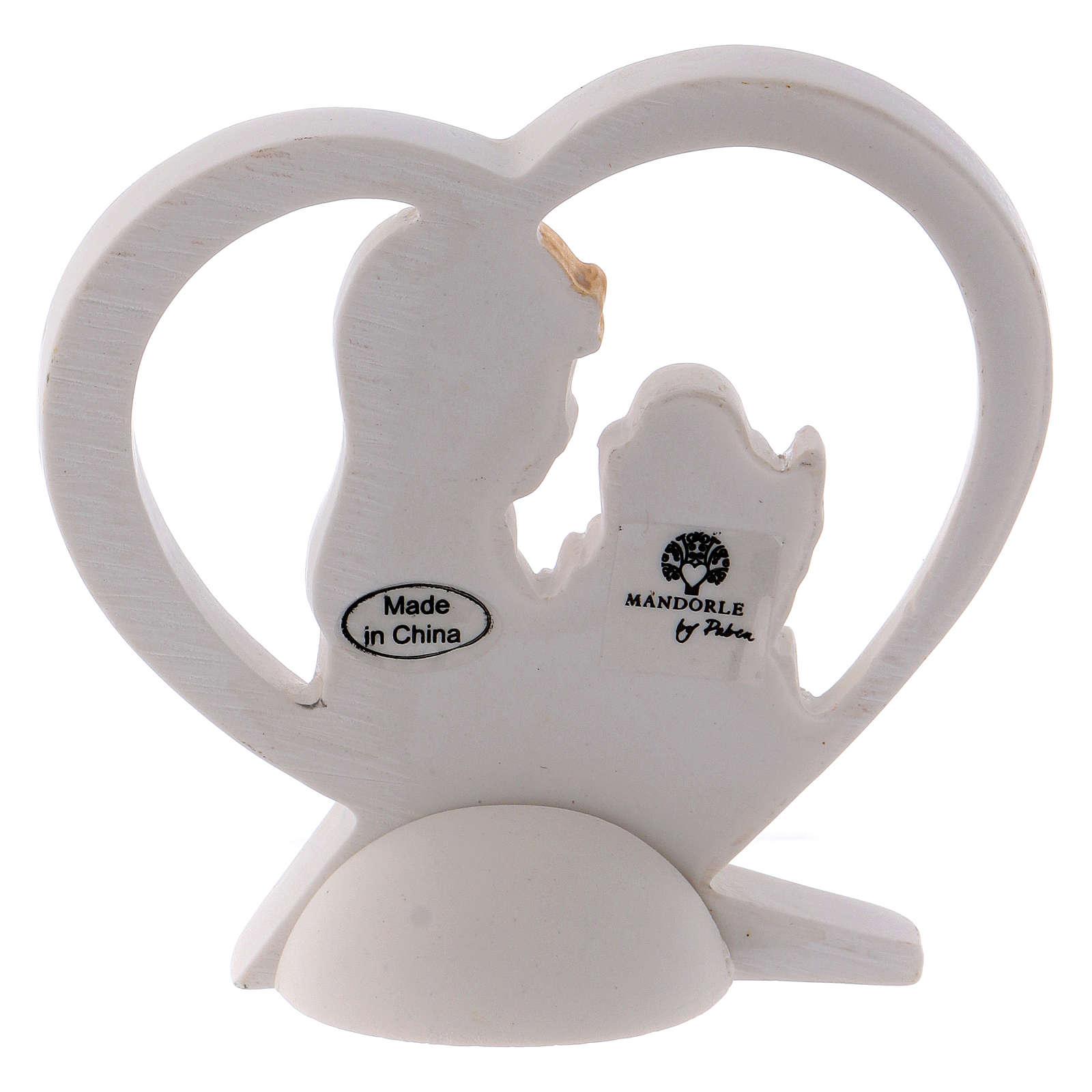 Bomboniera cuore resina bambina 6 cm 3