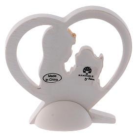 Bomboniera cuore resina bambina 6 cm s2