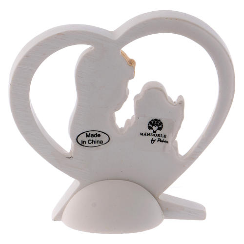 Bomboniera cuore resina bambina 6 cm 2