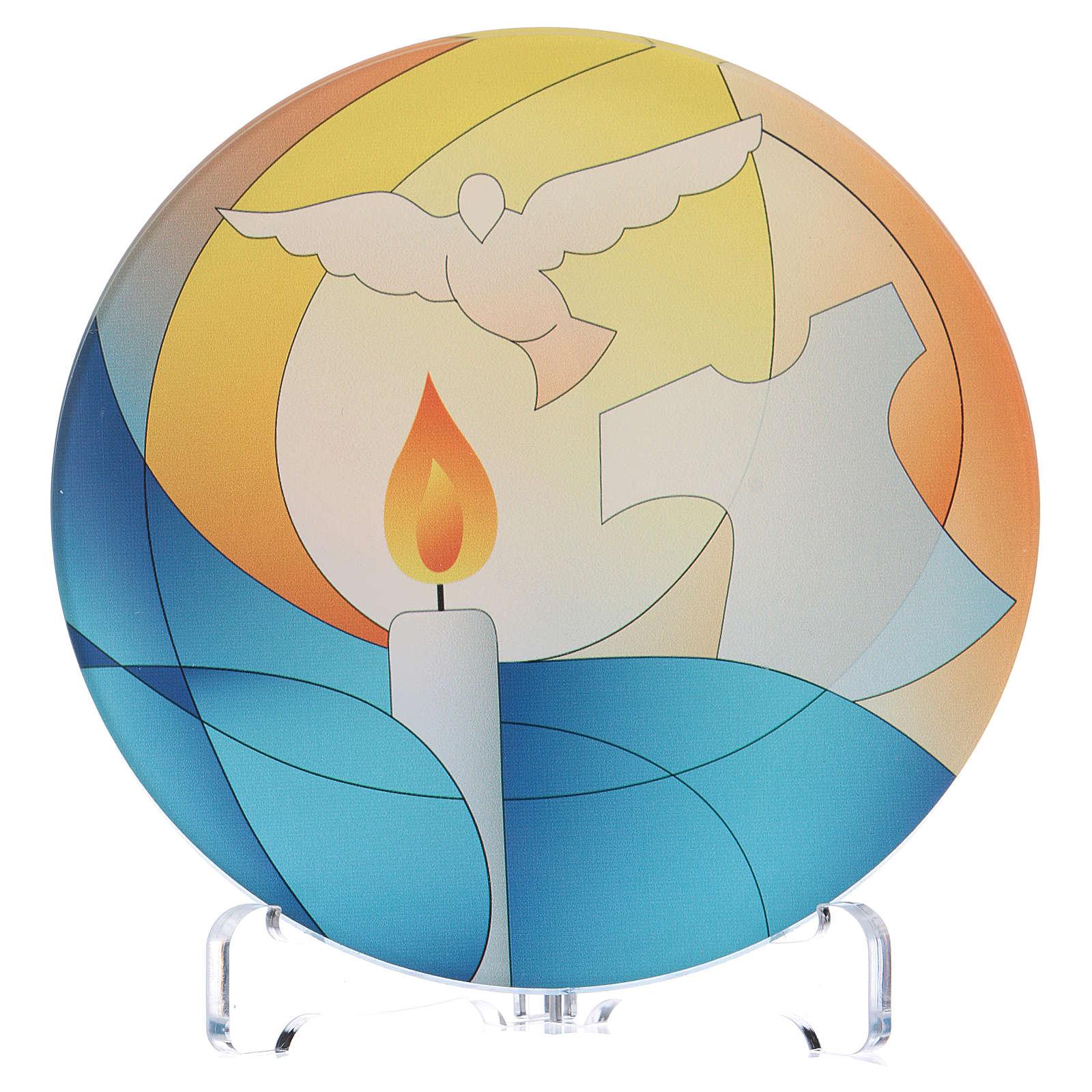 Souvenir baptême plexiglas diamètre 10 cm Centre Ave 3
