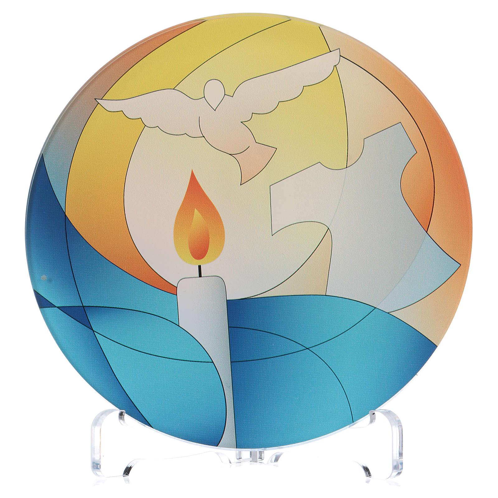 Souvenir communion plexiglas diamètre 10 cm Centre Ave 3