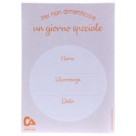 Souvenir communion plexiglas diamètre 10 cm Centre Ave s3