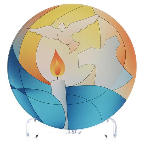 Souvenir communion plexiglas diamètre 10 cm Centre Ave 1