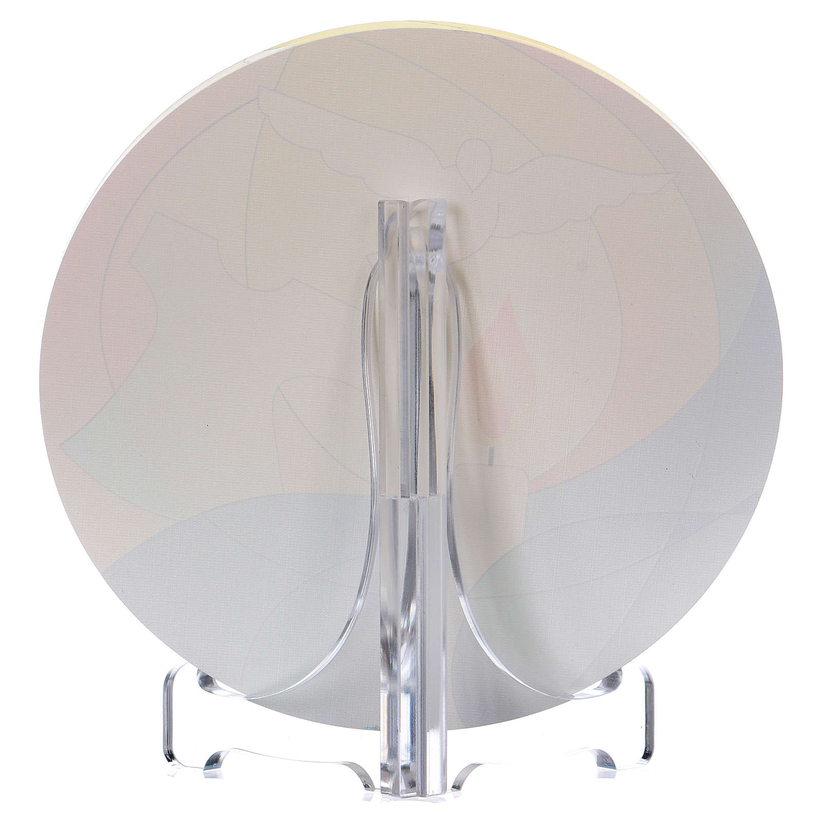 Bomboniera plexi comunione diametro 10 cm Centro Ave 3